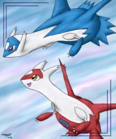 Latias and Latios for Luna by pdutogepi