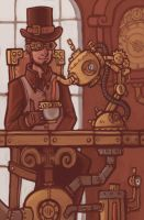 Steampunk Teatime by CyborgNecromancer