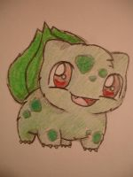 fluffy bulbasaur by chikadee34