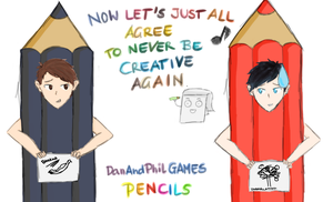 DanAndPhilGAMES x Don't Hug Me I'm Scared by YayPainterGirl16