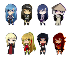 [Gifts] Christmas Chibis 1 by BubblesTea