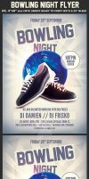 Bowling Night Flyer Template by Hotpindesigns