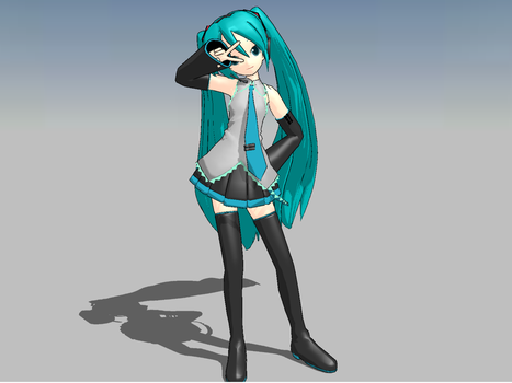 MMD miku by thenerdypenguins