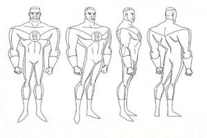 Green Lantern JLA  Model Sheet by Nes44Nes