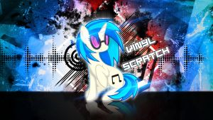 Vinyl Scratch Distortion Wallpaper by ALoopyDuck