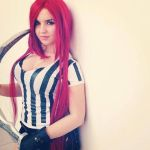 Katarina red card cosplay league of legends by ValeeraHime