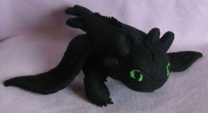 Night Fury Plush by AmberTDD