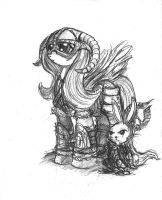 Fluttershy - Dovahkiin by TheLivingShadow