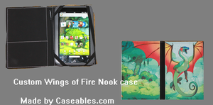 Wings of fire nook case made by Caseables by Mutt-de-Wolf