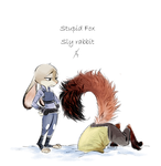 Stupid Fox, Sly rabbit by Ganym0