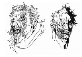 Zombies 2 inks by JosephLSilver