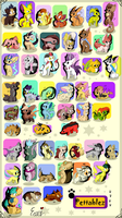50 FREE adoptables 2 CLOSED by Roxalew