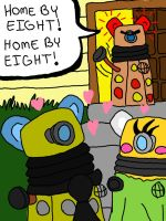 The Secret Lives of Daleks: Home By Eight by Plushie-Ninja