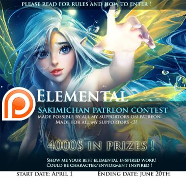 Elemental Art Contest Promo by sakimichan