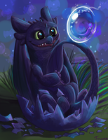 Birth of the Night Fury by Fonora