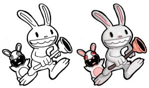 Chibi - Max + Rabbid by ElectroCereal
