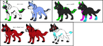 some pups for dracocrowshiin by 1Adopts1