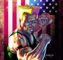 Guile portrait by andresmoreno