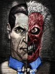 Two-Face (pen sketch)by ~myconius by jokercrazy