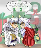 Inuyasha and Mr. Fluffy_Gifts by Nyyght