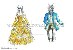 Beauty and the Beast sketches V by TheIronRing