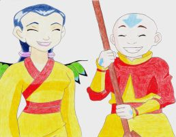 Hay Lin and Aang by TGrrr89