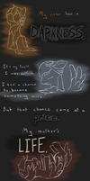 Comic short - My sister lives in darkness by Bluesparkks