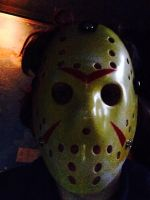 Me with Jason Voorhees mask again by CyotheLion