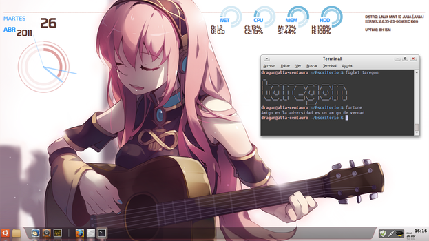 Linux Mint Megurine Luka by dragunixos