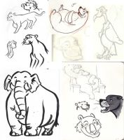 Jungle Book Sketches by BlueCheshireCat