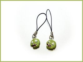 Plants vs Zombies - Cell Phone Strap by CookingMaru