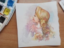 Tangled watercolor by Aintza-K
