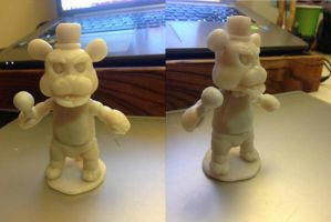 Freddy Fazbear clay Model W.I.P by Jesuka