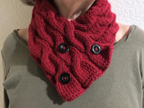 Tri Cable Cowl by JBcrochetwizard