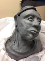 Clay Bust WIP 5 by waterfish5678901