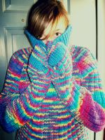 rainbow sweater definement by walruskungfu