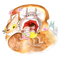 My Neighbor Totoro // Spring Girls by adrawer4ever