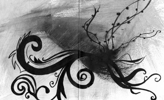 black and white vines by CookieMonster2107