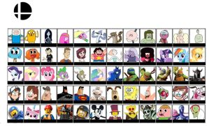 Super Smash Bros Cartoon Roster (UPDATE 2) by Broxome
