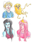 Adventure Time characters by blindbandit5