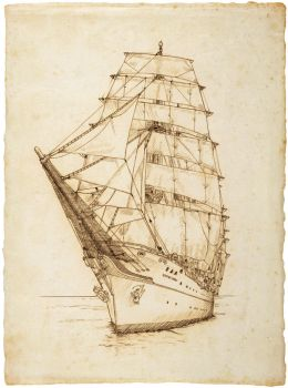 Tall ship by 403shiomi