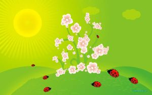 Spring Ladybirds by lovemydesktop