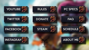 Twitch.tv panels - Riggles by Syrdni