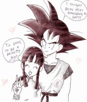 Chichi and Goku by spuzvabob