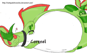-New OC: Corenel the flygon- by Puffed-Up