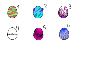 Adoptable eggs by Diffany