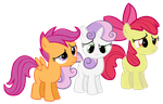 Cutie Mark Crusaders - Vector by smlahyee