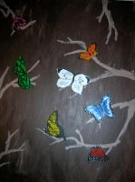 butterflies and branches by teen-artlover