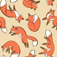 Seemless Fox wallpaper by Mad-King-Corduroy