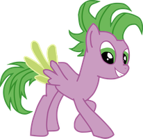 Spike as a Pony by BluemoonHD